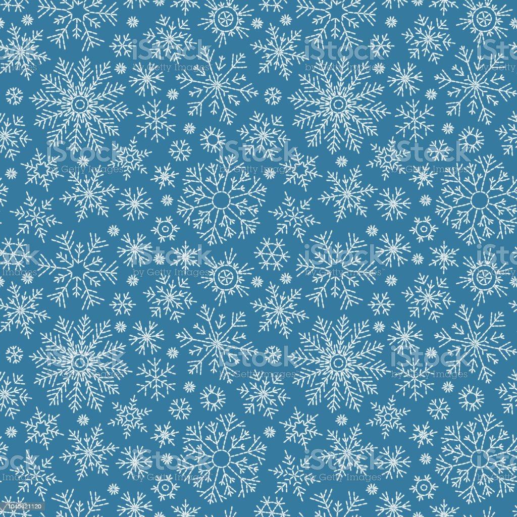 Weihnachten-nahtlose Doodle-Muster - Lizenzfrei Bildhintergrund Vektorgrafik