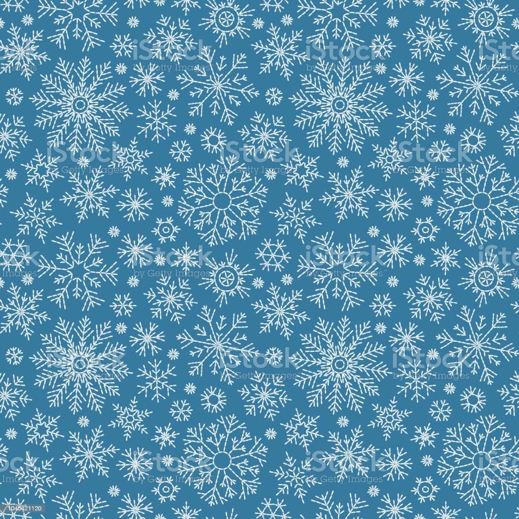 Christmas seamless doodle pattern vector art illustration