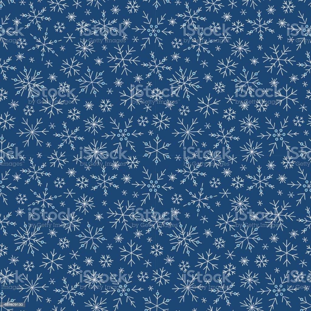 Weihnachten nahtlose doodle Muster mit Schneeflocken Lizenzfreies weihnachten nahtlose doodle muster mit schneeflocken stock vektor art und mehr bilder von bildhintergrund