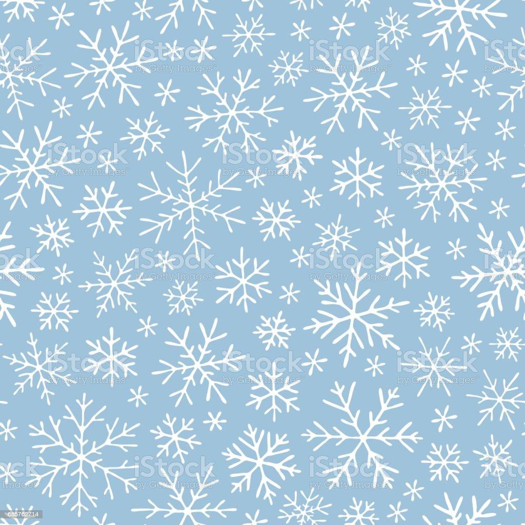 Christmas seamless doodle pattern with snowflakes royalty free christmas seamless doodle pattern with snowflakes stockvectorkunst en meer beelden van abstract