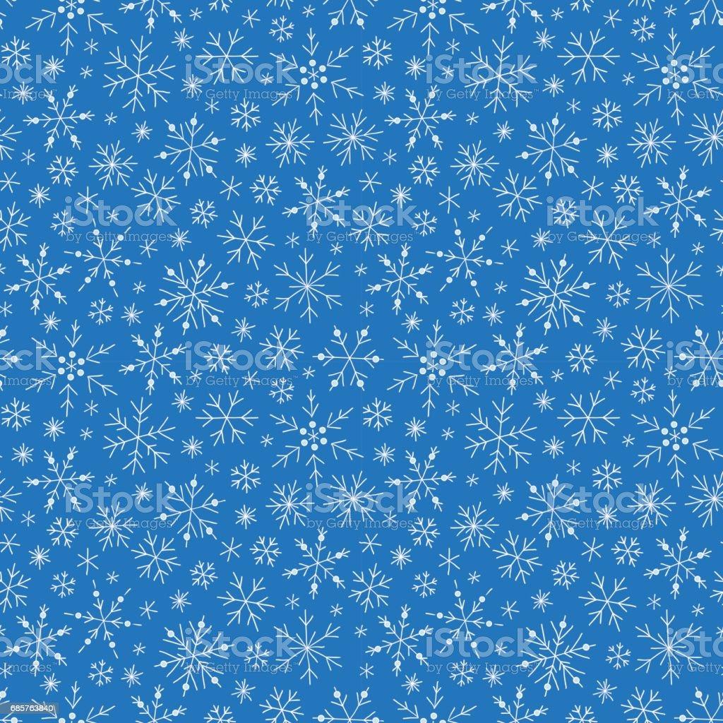 Christmas seamless doodle pattern with snowflakes christmas seamless doodle pattern with snowflakes - stockowe grafiki wektorowe i więcej obrazów abstrakcja royalty-free