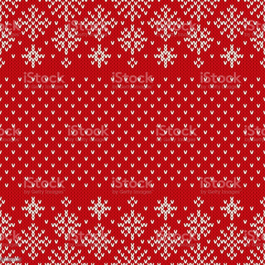 Patrón con copos de nieve de Navidad perfecta de punto. Navidad y año nuevo diseño fondo. Diseño de suéter de punto - ilustración de arte vectorial