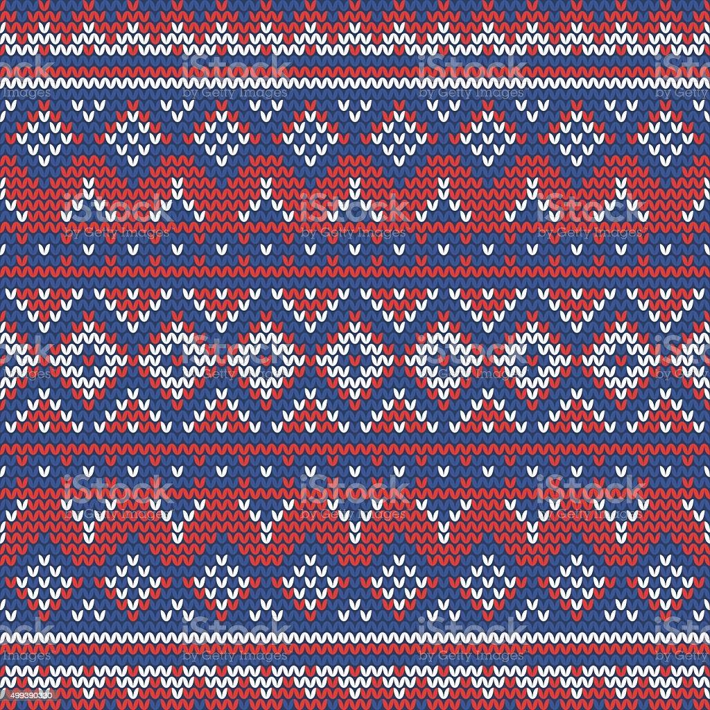 Christmas Seamless Knitting Pattern With Norwegian Motifs Stock ...