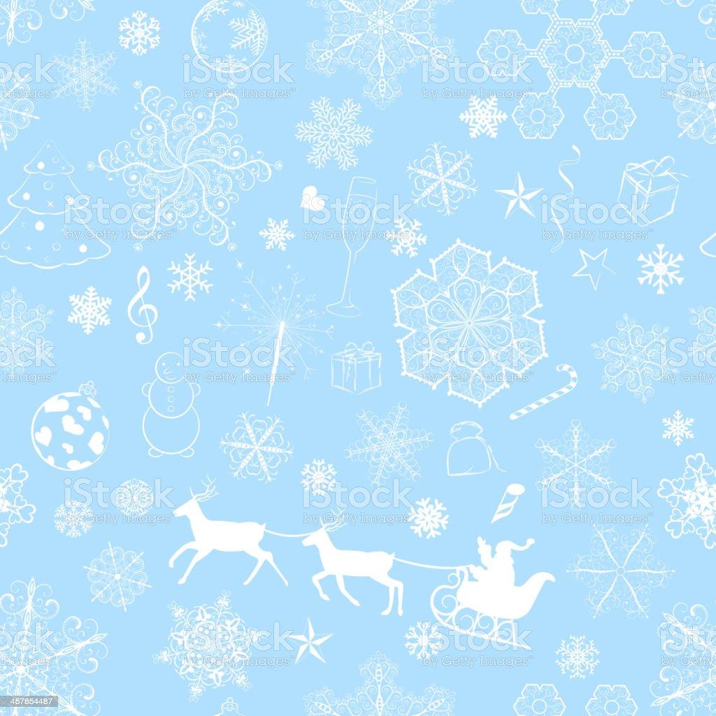 Christmas seamless light blue pattern royalty-free stock vector art