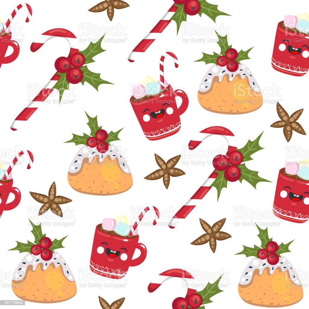 Ilustración de Dulces De Navidad De Patrones Sin Fisuras Taza Con ...