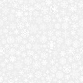 Christmas seamless pattern from white snowflakes on gray background. Vector illustrations.