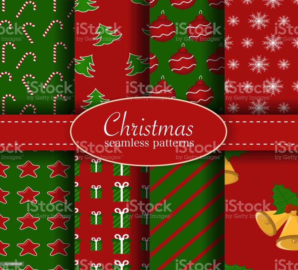 christmas seamless pattern set red and green colors royalty free christmas seamless pattern - Why Are Christmas Colors Red And Green