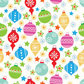 Vector Christmas seamless pattern .