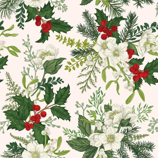 Christmas seamless pattern. vector art illustration