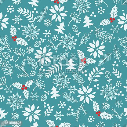 istock Christmas seamless pattern . 1181598823