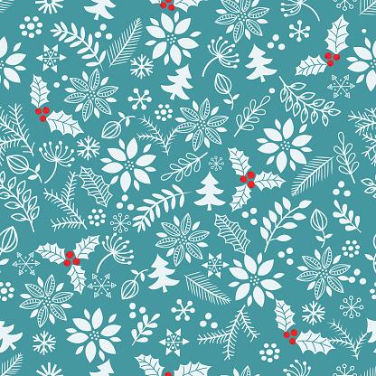 Christmas seamless pattern .