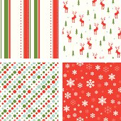 """A set of christmas pattern. All design are seamless and """"pattern swatches"""" included in file, for your convenient use"""