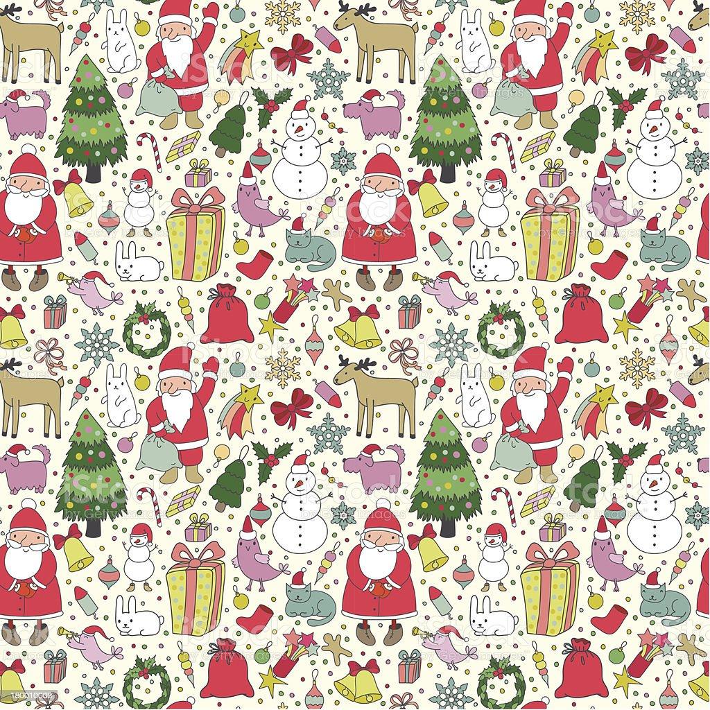 크리스마스 연속무늬 royalty-free 크리스마스 연속무늬 개 - 개과에 대한 스톡 벡터 아트 및 기타 이미지