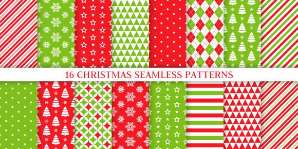 ilustrações, clipart, desenhos animados e ícones de teste padrão sem emenda do natal.  ilustração do vetor. papel de embrulho festivo. - christmas pattern
