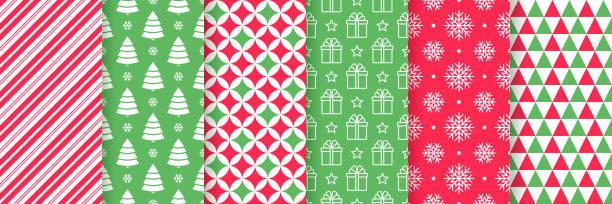 크리스마스 원활한 패턴입니다.  벡터 그림입니다. 축제 포장지. - 포장지 stock illustrations