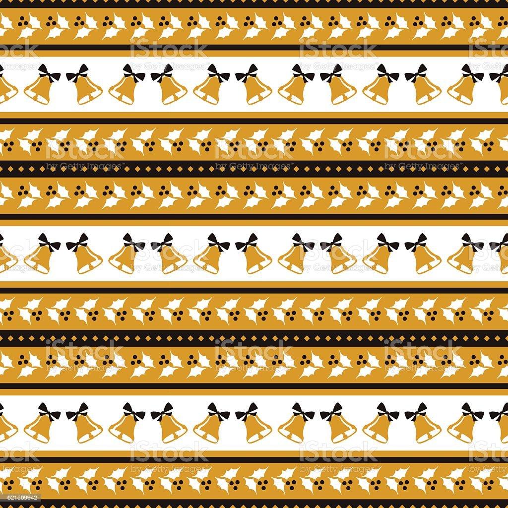 Christmas seamless pattern with holly and bells. christmas seamless pattern with holly and bells – cliparts vectoriels et plus d'images de carré - composition libre de droits