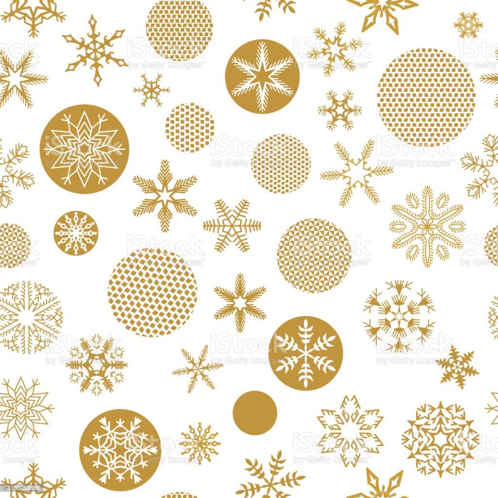 トレンディなゴールデンスノーフレークと白い背景に顔のクリスマス
