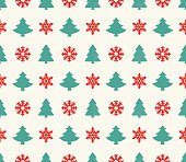 Vector illustration of the Christmas seamless pattern