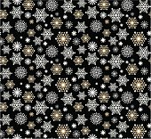 Christmas Seamless Snowflake Pattern