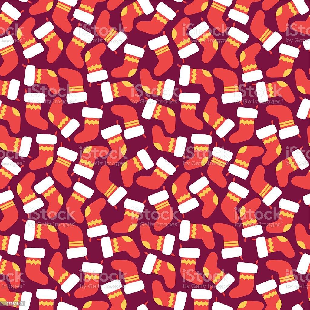 Christmas Seamless Vector Pattern 14 vector art illustration
