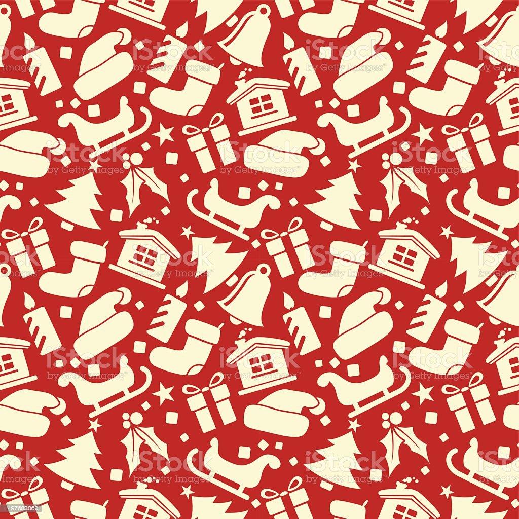 Christmas Seamless Vector Pattern 18 vector art illustration