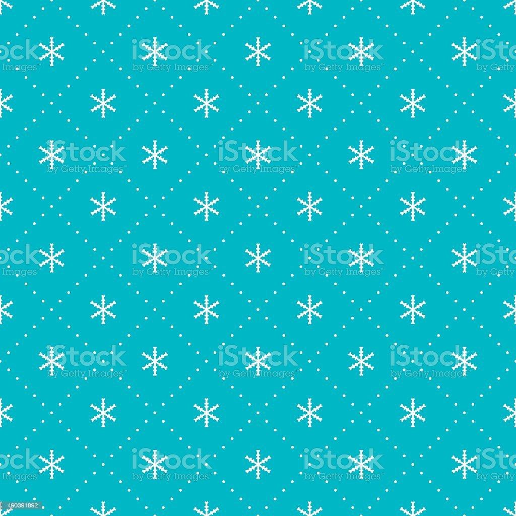 2016 Christmas season hand drawn vector seamless pattern. New Year. vector art illustration