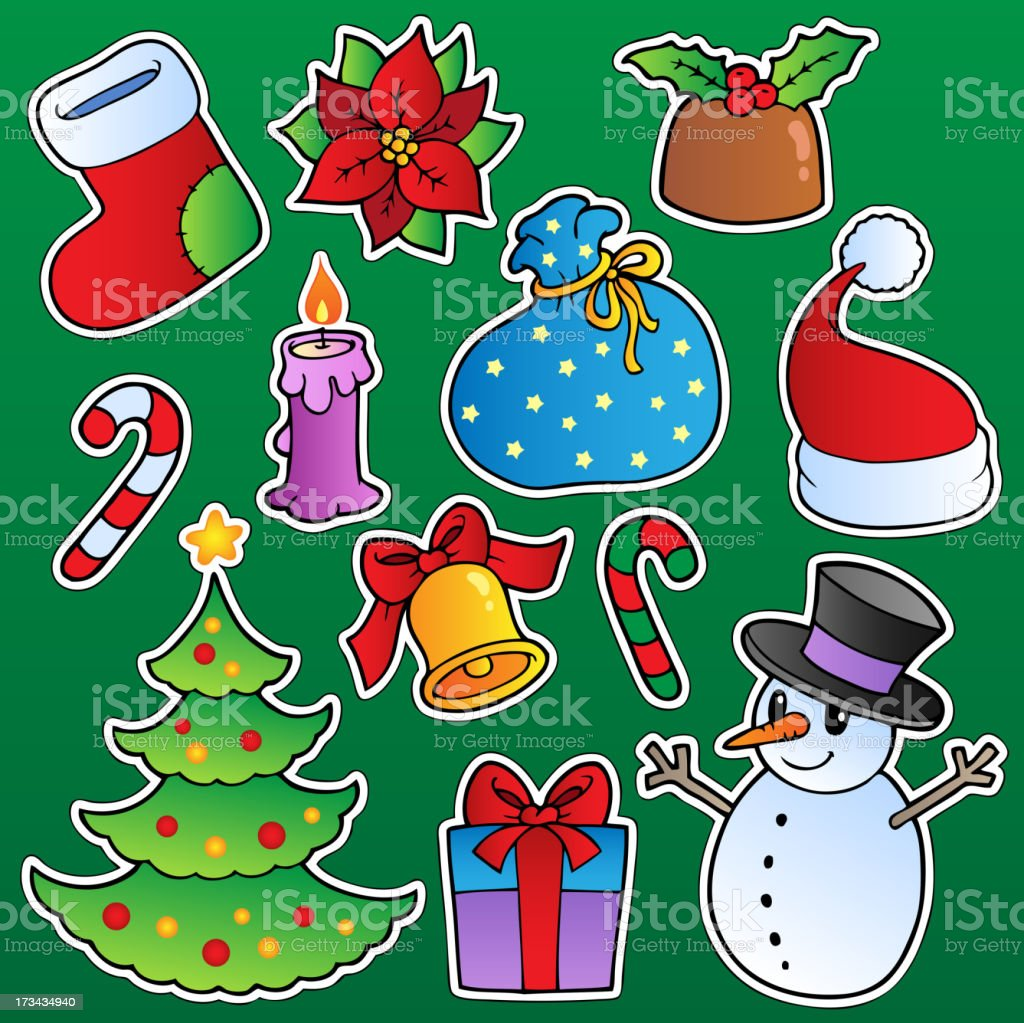 Christmas season theme 1 royalty-free stock vector art