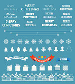 Christmas season vector elements collection