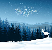 design of vector Christmas landscape.This file was recorded with adobe illustrator cs4 transparent.EPS10 format.