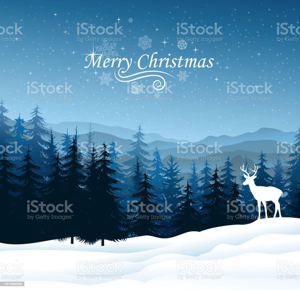 christmas season vector art illustration