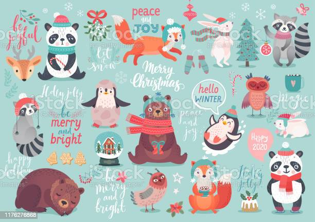 Christmas set hand drawn style calligraphy animals and other elements vector id1176276868?b=1&k=6&m=1176276868&s=612x612&h=smvxwip8hiwjydh9chhzsemq1bmpehlqb4r5uhyjvdo=