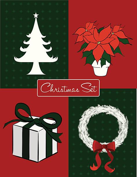 Christmas Set vector art illustration