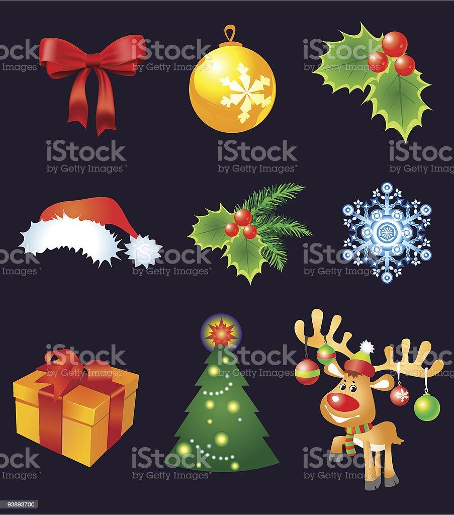 Christmas set royalty-free christmas set stock vector art & more images of art