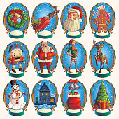 Set of Christmas elements. Vector eps.9