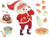 Christmas set with Santa