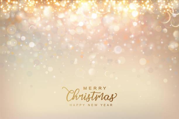 Christmas Shining Background Christmas and New Year shining background. Abstract colorful bokeh background. Vector illustration christmas backgrounds stock illustrations