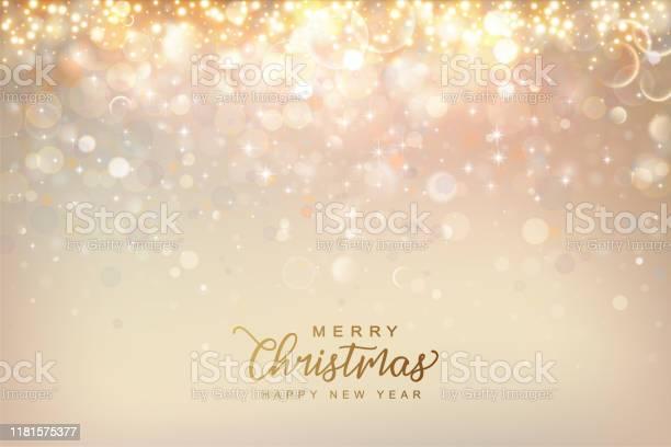 Christmas Shining Background Stock Illustration - Download Image Now