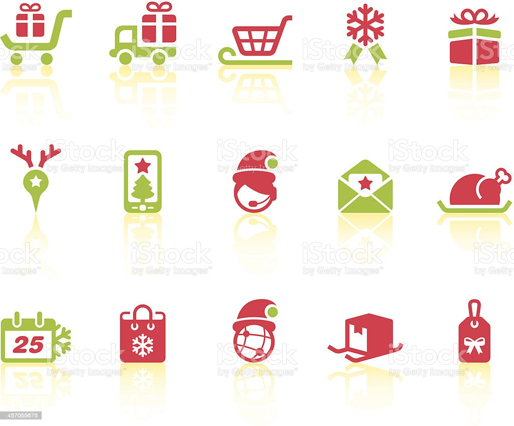 Christmas Shopping Icons   Simple Series royalty-free stock vector art