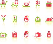 Christmas Shopping features related vector icons for your design and application.