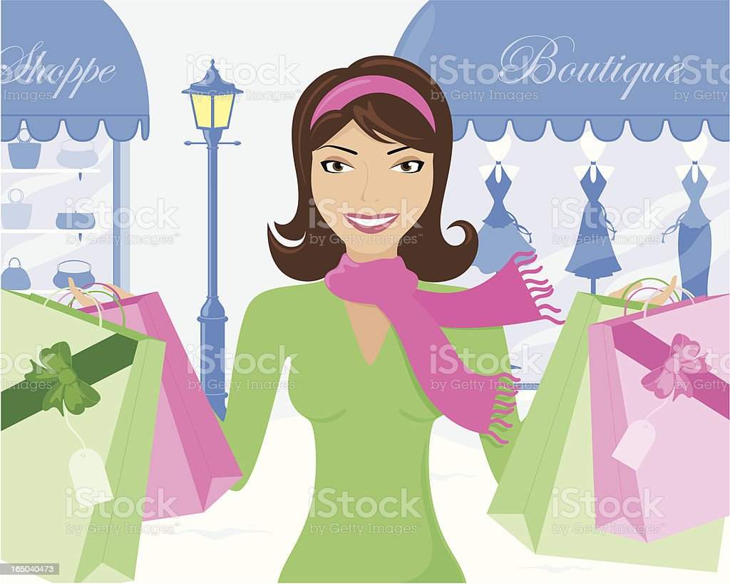Christmas Shopping - incl. jpeg royalty-free christmas shopping incl jpeg stock vector art & more images of adult