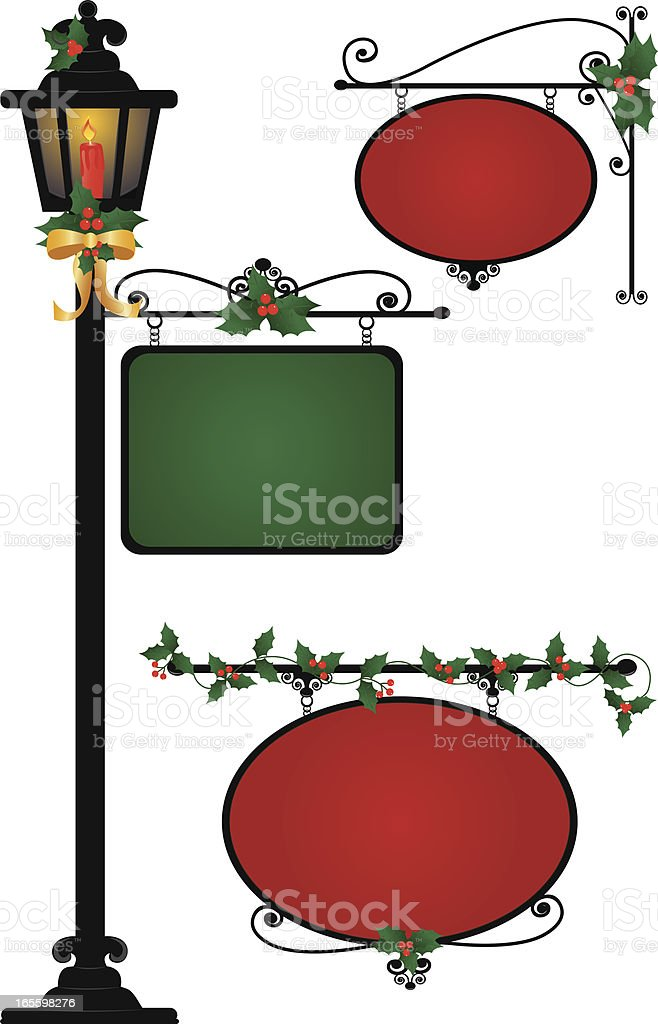 Christmas Signs royalty-free christmas signs stock vector art & more images of advertisement