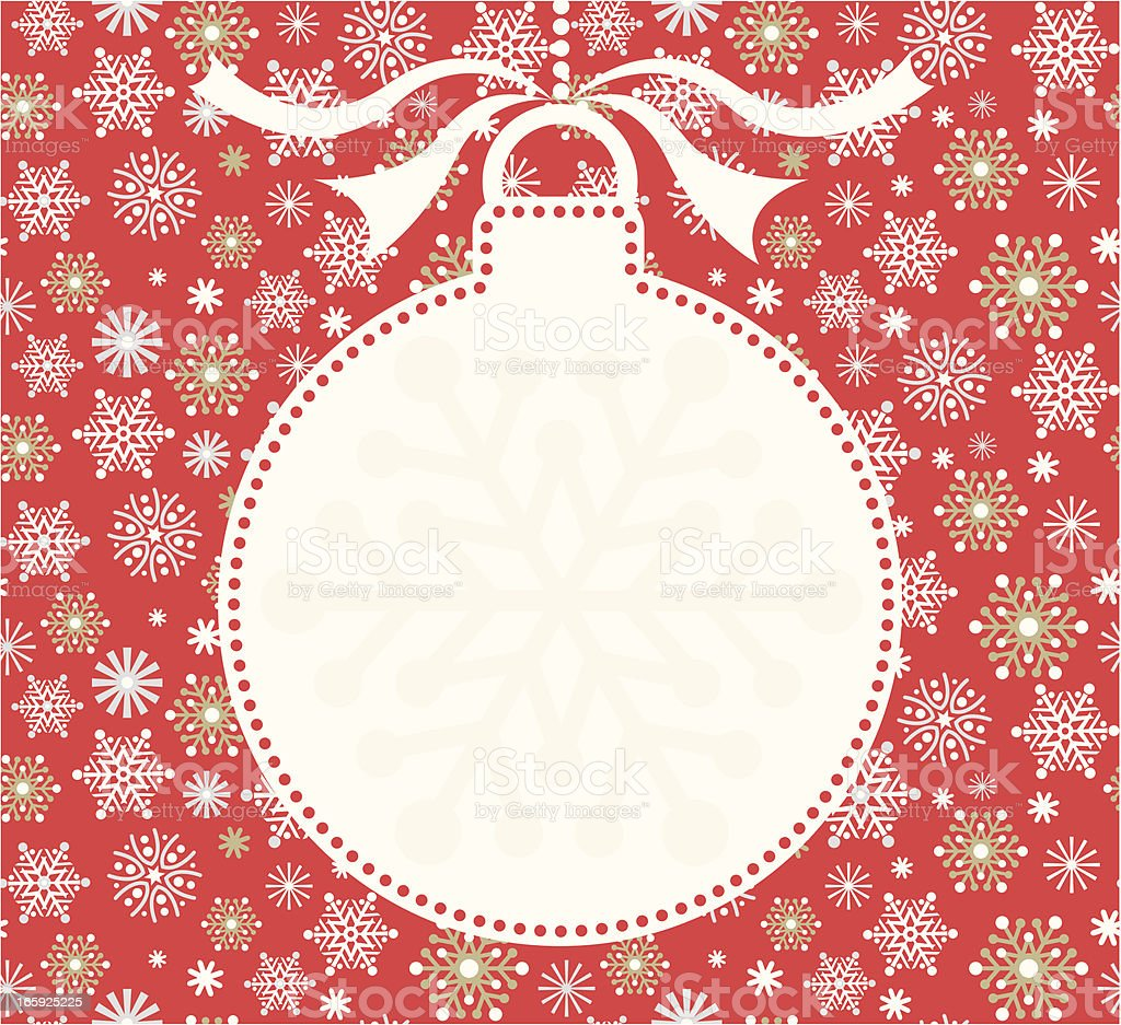 Christmas Silhouette Bauble & Snowflakes Invite royalty-free stock vector art
