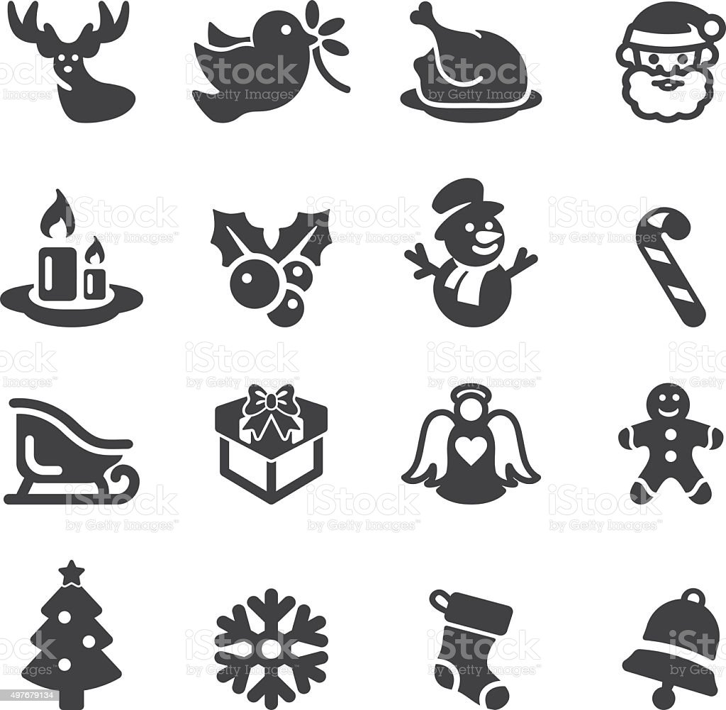 weihnachten silhouette iconseps10 vektor illustration. Black Bedroom Furniture Sets. Home Design Ideas