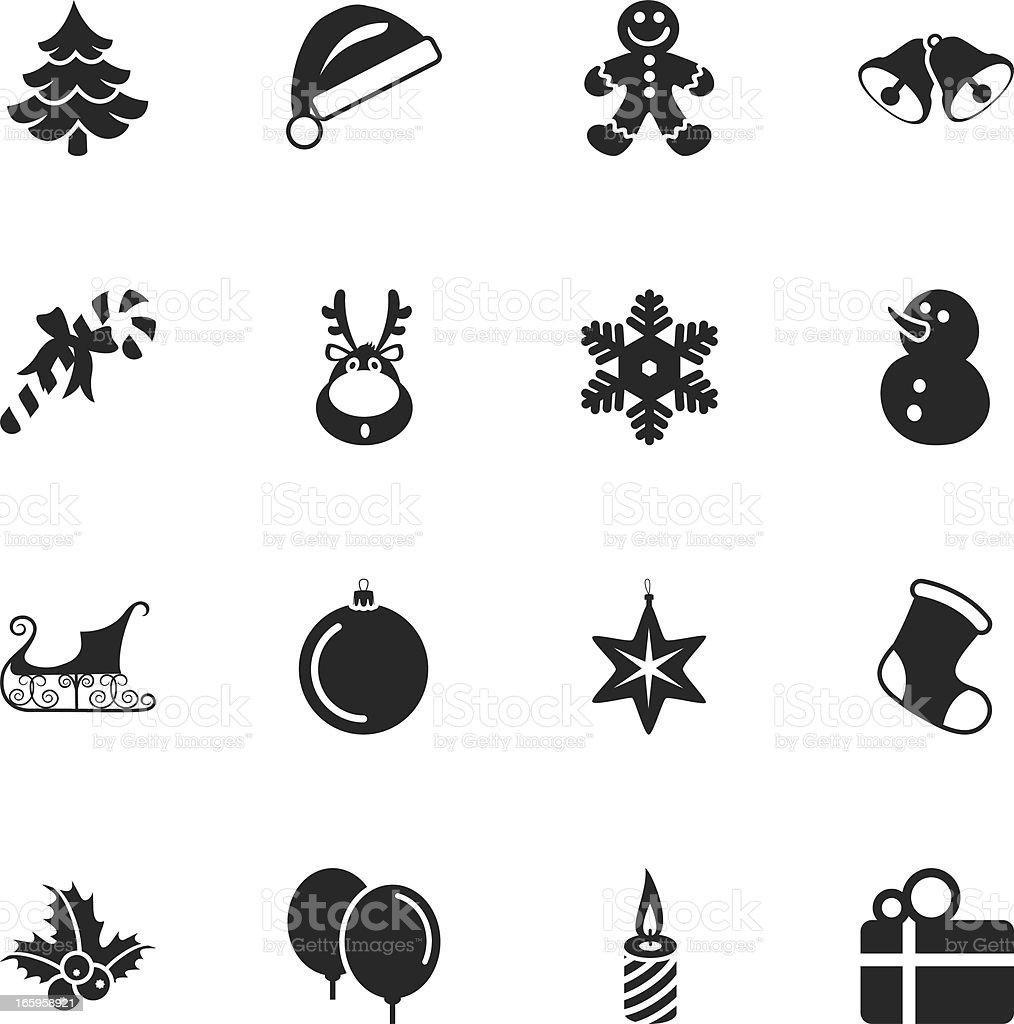 Weihnachten Silhouette Icons Stock Vektor Art und mehr Bilder von ...