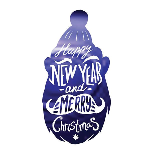 Christmas silhouettes Santa - Illustration vectorielle