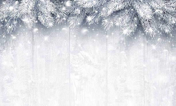 ilustrações de stock, clip art, desenhos animados e ícones de christmas  silver background - christmas table