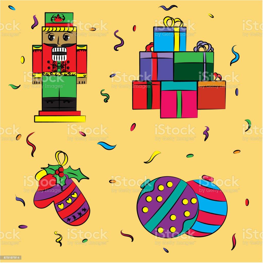 Ilustración Navidad Cascanueces Regalos Dibujo De Juguetes ymwnN80vO