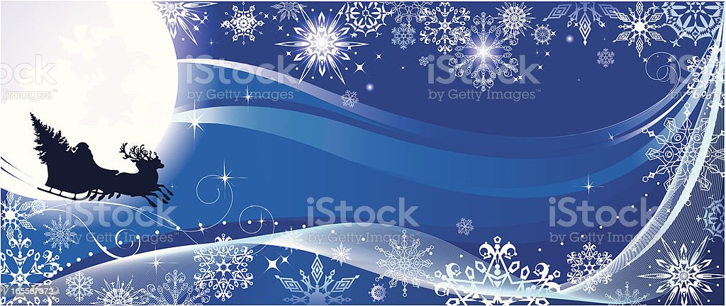 Christmas sky royalty-free stock vector art