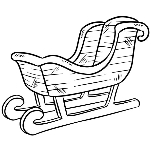 Royalty Free Horse Drawn Sleigh Clip Art, Vector Images