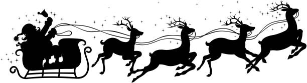 クリスマスのそり - トナカイ点のイラスト素材/クリップアート素材/マンガ素材/アイコン素材